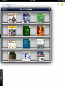 Coursesmart bookshelf