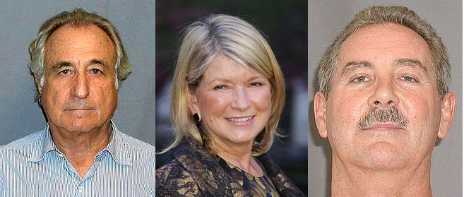 Bernie Madoff, Martha Stewart, and Allen Stanford
