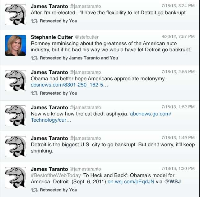 James Taranto Reminds Us of Past Promises