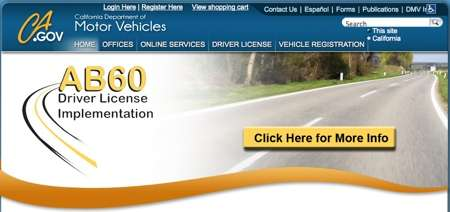 California DMV home page another hidden california tax
