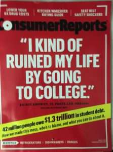 Consumer Reports cover Consumer Reports on Student Loan Debt