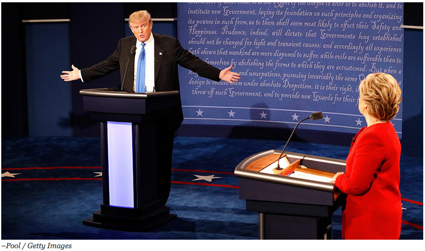 Clinton and Trump at the First Debate Clinton on Trump Taxes