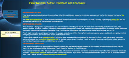 Who is Peter Navarro home page