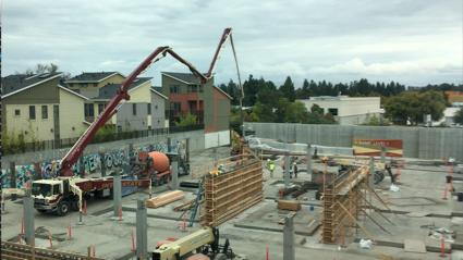 Giant concrete pumping crane