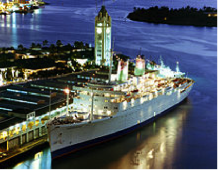 SS Independence at Honolulu in 2001