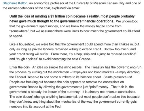 Prof. Kelton on Mint the Coin