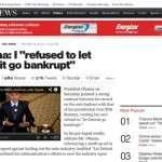 """Obama: """"I Refused to Let Detroit Go Bankrupt"""""""