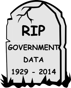 RIP government data 1929 - 2014