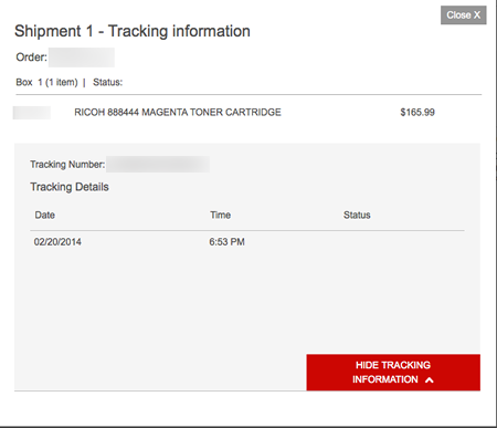 Staples Tracking Fail