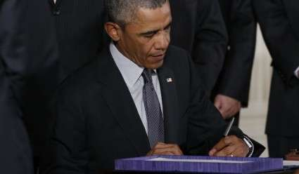 President Obama Signing TPA, TAA