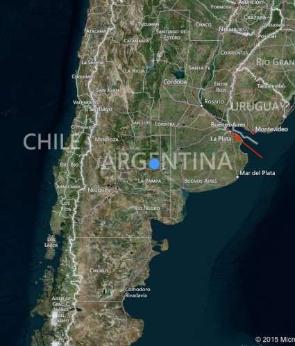 Argentina Map Bitcoin in Argentina